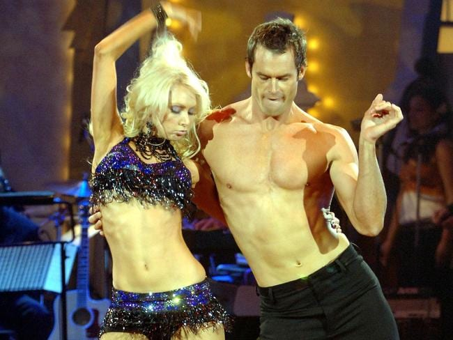 Tom Williams with dancer Kym Johnson on Dancing With The Stars in 2005. Picture: Supplied