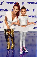 Farrah Abraham and Sophia Abraham attend the 2017 MTV Video Music Awards at The Forum on August 27, 2017 in Inglewood, California. Picture: Getty
