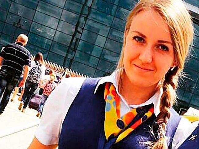 Anastasia Slavinskaya, 29, was one of the six crew members.