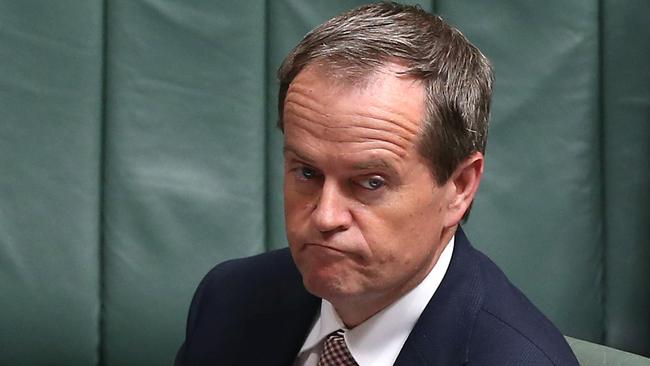 Not happy PM ... Opposition Leader Bill Shorten in Question Time in the House of Representatives. Picture: Kym Smith