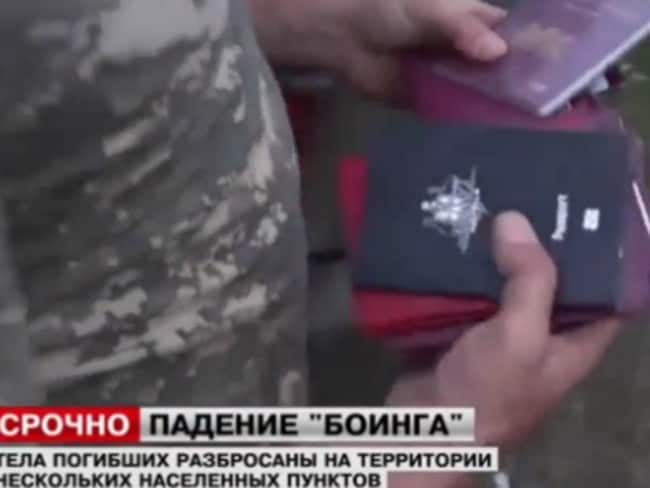 Australian passport found at Malaysia Airlines wreckage site. Photo: Live Leak