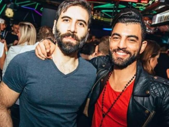 Pitiful ... Return of Kings founder and rape advocate Daryush 'Roosh' Valizadeh (left) is scared for his safety. Picture: Instagram
