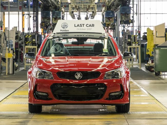 The last Holden Commodore made in Australia, 20 October 2017. Picture: Supplied.