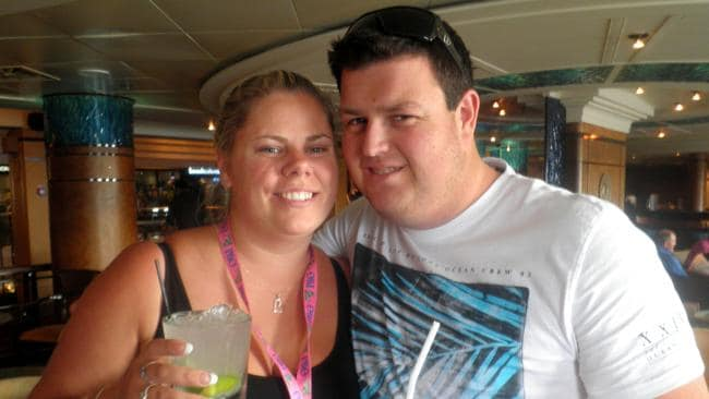 Emily Flanagan and Greg Rickets, who met aboard a Pacific Jewel cruise. Picture: Supplied