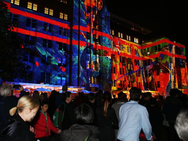 Large crowds at Vivid are to be expected, especially around Circular Quay.