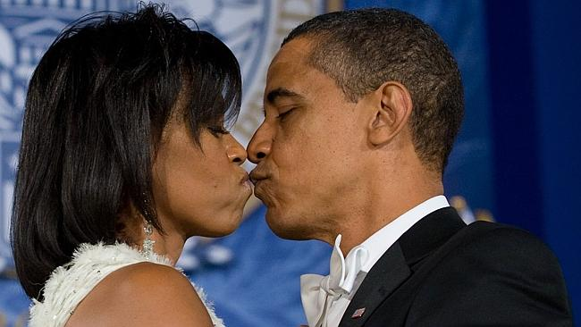He's the most powerful man in the world, he can kiss however he...