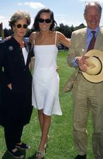 Tara Palmer-Tomkinson and her parents Patty and Charles. Picture: Tom Wargacki/WireImage