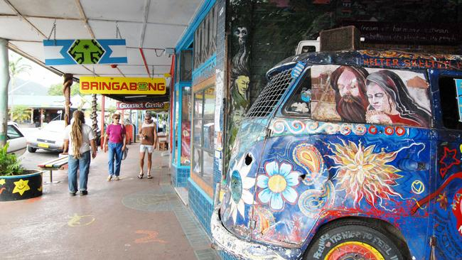 Before the fire: Nimbin's main attractions in all their glory. Picture: Tim Marsden