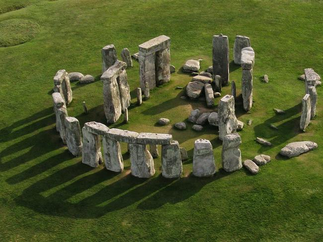 Stonehenge is built from a combination of local sarcen stones (the large, capped stones of the outer ring) and bluestones (the smaller stones of the interior).