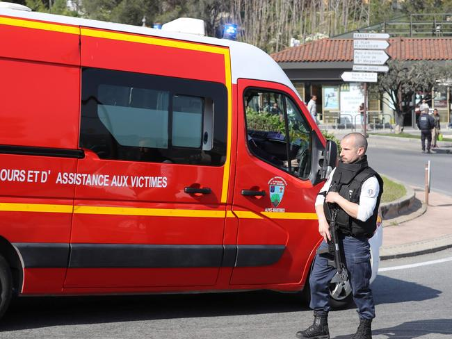 A 16-year-old pupil armed with a rifle, two handguns and two grenades was arrested after the school shooting. Picture: AFP/Valery Hache