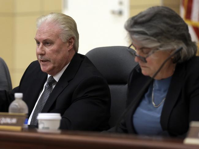 Occupational Safety and Health Standards Board chairman David Thomas during a hearing into the porn industry in California. Picture: Ben Margot