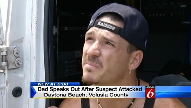 Ran for a knife ... Jason Browning said he was ready to kill his son's alleged attacker. Picture: WKMG