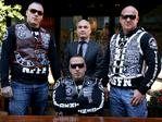 Raptor officials believe the Nomads are aggressively recruiting in a bid to bolster their brand. Pictured above is the gangs National President, Sleiman 'Simon' Tajjour, along with Vice President, Steve Vujica (right). Sergeant-at-Arms Craig Damond is on the left next to lawyer Simon Joyner (middle).