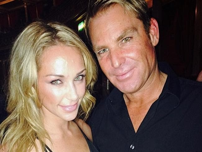 "Attractive couple: ""About to watch my good friend Chris Martin & #Coldplay at the amazing Royal Albert Hall"". Picture: Shane Warne / Instagram"