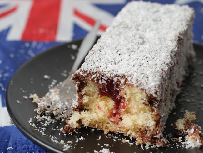To jam or not to jam? ... There is no definitive evidence of whether or not the original lamington had jam in the middle. Picture: Nicole Cleary