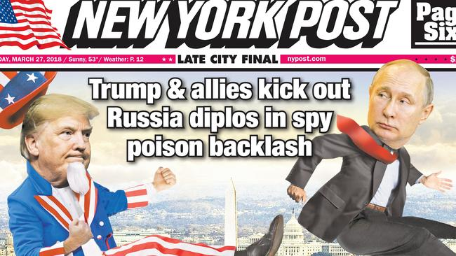 The US, UK and European allies lined up to boot out alleged Russian spies. Picture: The New York Post/MEGA