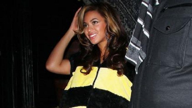Beyonce generated baby-bump rumours when she dressed as a bumble bee for Halloween.
