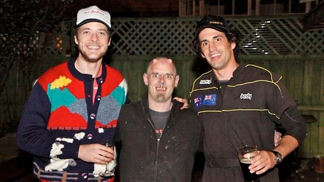"""In New Zealand, Drak the vampire drank Andy's blood. For real. As Hamish told news.com.au: """"Interesting"""". Picture: Supplied."""