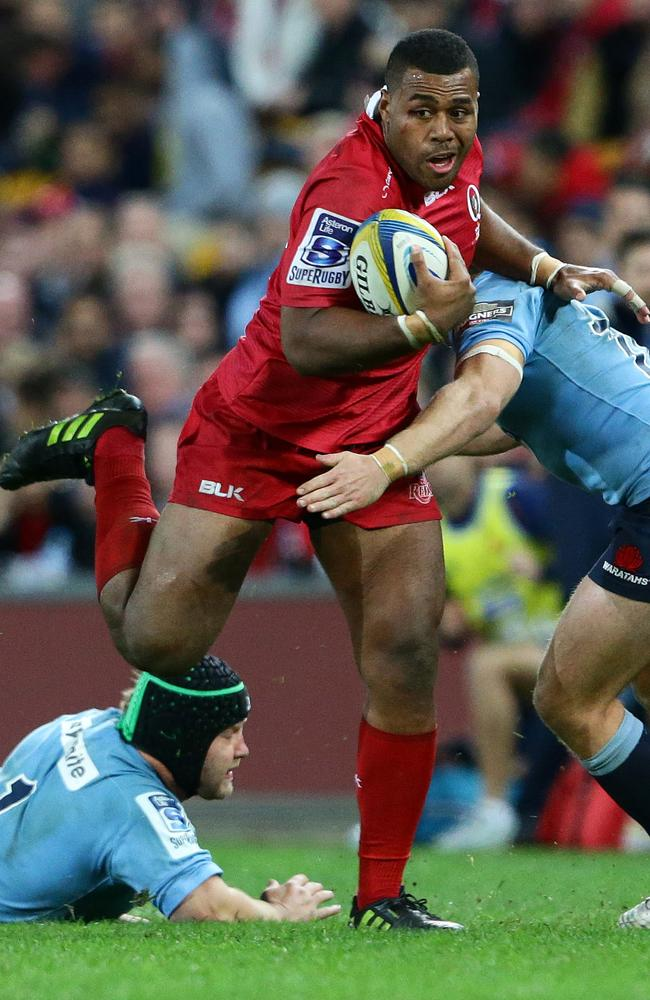 Samu Kerevi of the Reds during the Super Rugby match between the Queensland Reds and the New South Wales Waratahs. Pic Darren England.