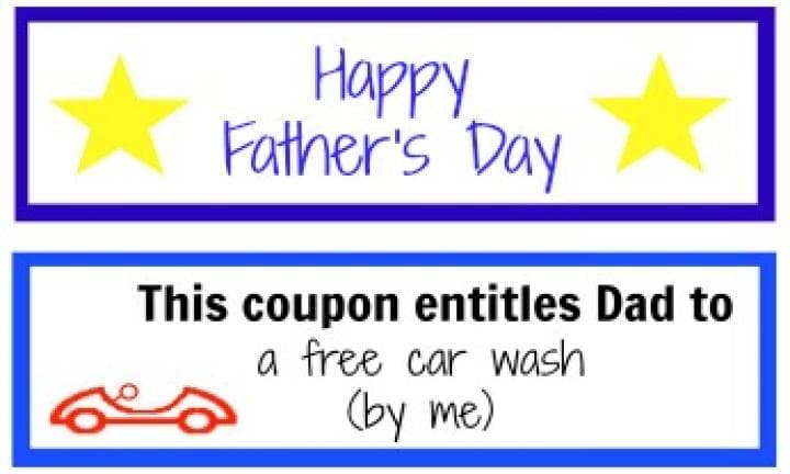 Father's Day coupon booklet