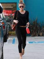 <p>Miley Cyrus looks trim as she leaves a Pilates class in West Hollywood. Picture: Snappermedia</p>