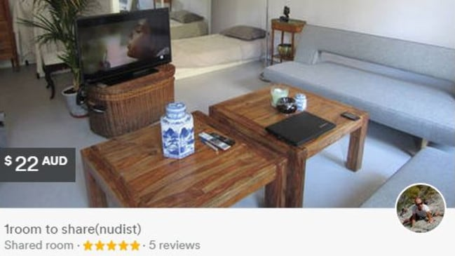 For $22 a night you can share this room with a nudist in Paris. Bargain! Photo: Airbnb