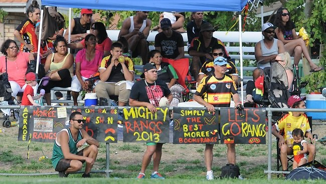 Moree Boomerangs fans on grand final day. The Boomerangs won a fairytale premiership.