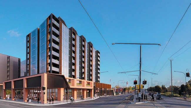 An artist's impression of the Port Rd development.
