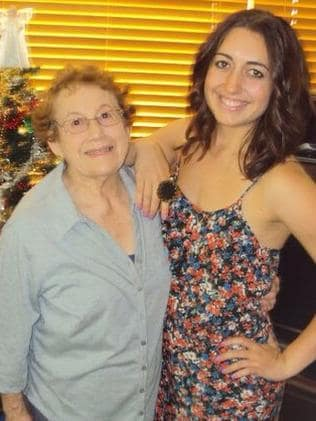 Alexandra with her late grandma Elsie Taylor, who died a few years ago. Picture: Supplied