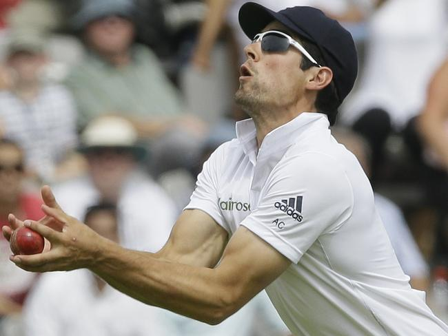 Not much went right for Alastair Cook but he took a fine running catch over his head on day four.