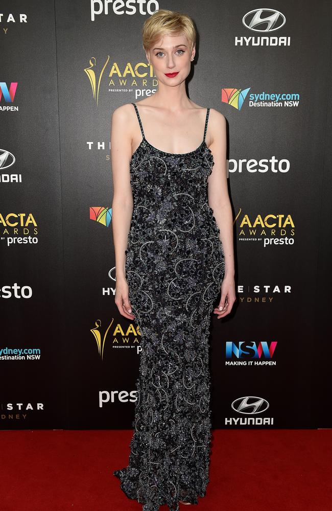 Elizabeth Debicki arrives ahead of the 5th AACTA Awards Presented by Presto at The Star on December 9, 2015 in Sydney, Australia. Picture: AAP