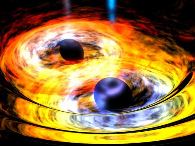 Raw power ... Scientists now have direct evidence of the existence of gravitational waves rippling across the universe. Picture: NASA