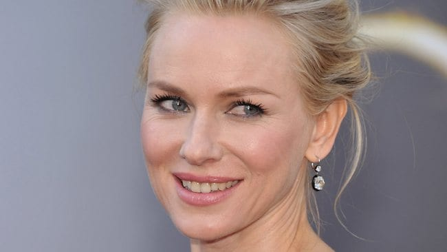 Actress Naomi Watts arrives at the Oscars at the Dolby Theatre. Picture: AP