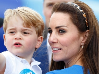 FAIRFORD, UNITED KINGDOM - JULY 08: (EMBARGOED FOR PUBLICATION IN UK NEWSPAPERS UNTIL 48 HOURS AFTER CREATE DATE AND TIME) Prince George of Cambridge and Catherine, Duchess of Cambridge visit the Royal International Air Tattoo at RAF Fairford on July 8, 2016 in Fairford, England. (Photo by Max Mumby/Indigo/Getty Images)