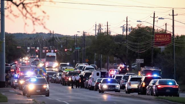 Police respond after one person was injured by a package containing an incendiary device at a nearby Goodwill store on March 20, 2018 in Austin, Texas. Picture: Scott Olson/Getty Images/AFP.