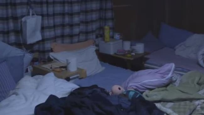 This is one of the rooms four 'interns' in Japan were made to share.