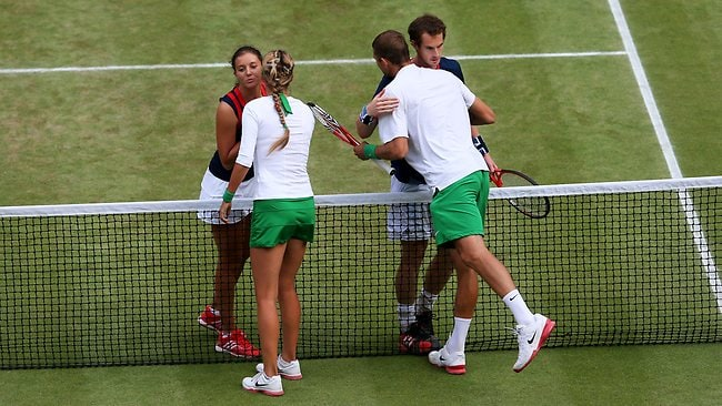 Mixed bag ... Murray fell just short of claiming two gold medals in one day.
