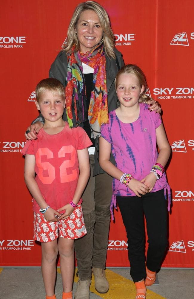 The TV host with her two children.