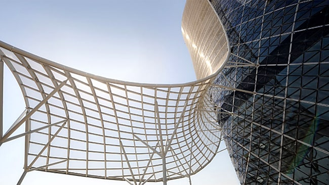 The exterior of the Capital Gate. Picture: Supplied