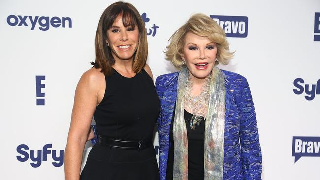 Joan Rivers and her daughter Melissa Rivers on the red carpet earlier this year.