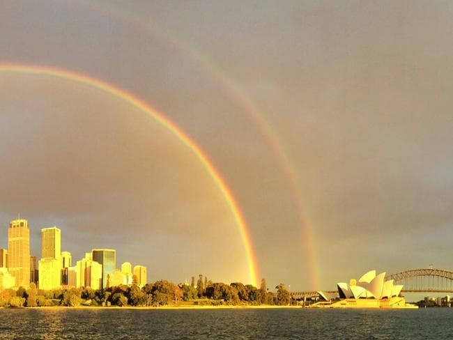 Remember the time a double rainbow appeared? Picture: Michelle Payne