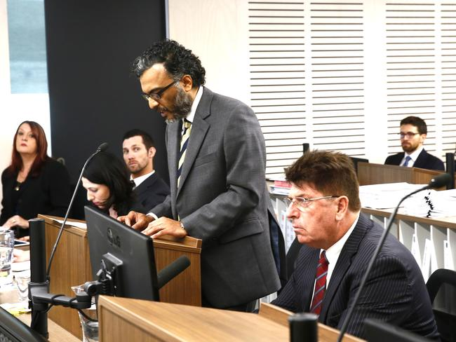Counsel Assisting the Commission Mr Murugan Thangaraj SC giving the opening address on the first day of the public inquiry into Operation Ricco. Picture: John Appleyad