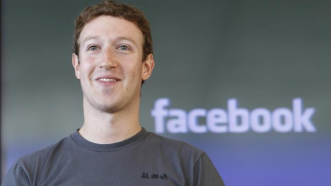 Birthday boy: Facebook founder Mark Zuckerberg celebrates his 28th birthday today the same week his company is expected to start publicly trading shares. Picture: Supplied.