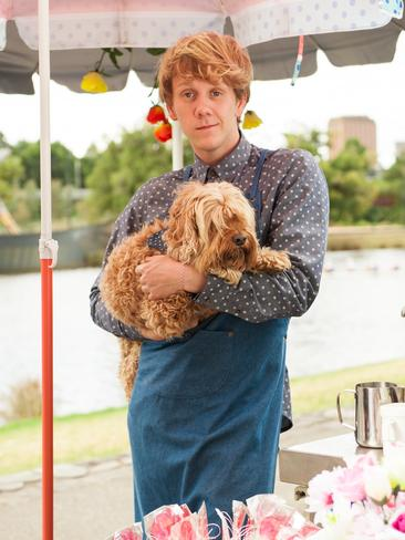 Josh Thomas and John the dog in the new season of  <i>Please Like Me</i>. Picture: Supplied