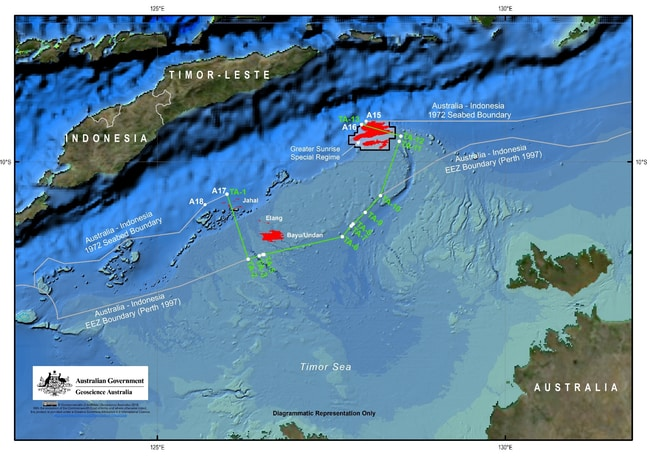 Australia and East Timor yesterday established a permanent maritime border.