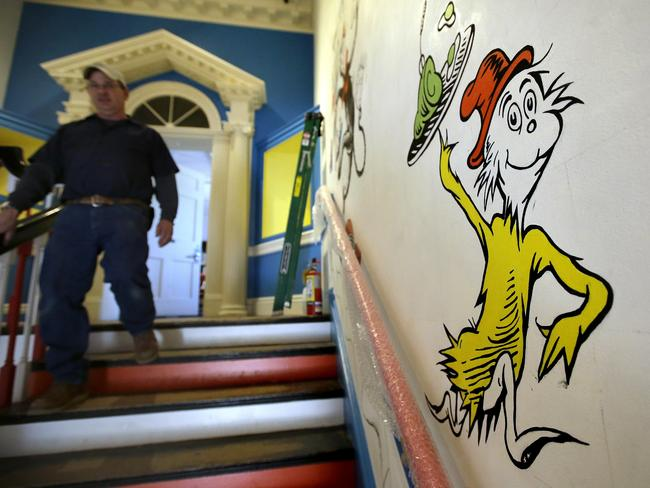 The best-loved Dr Seuss characters feature in the museum, such as Sam I Am from Green Eggs and Ham. Picture: AP/Steven Senne