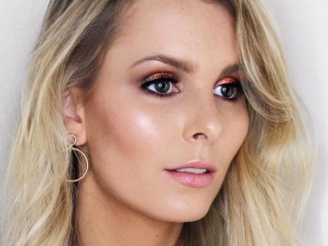 Make up artist Rachael Brook with a natural highlight and nude lip.