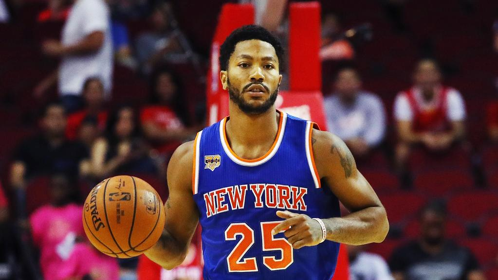 Derrick Rose #25 of the New York Knicks.