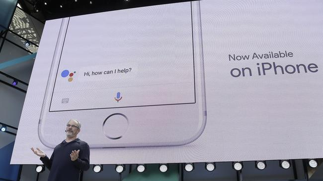 Google recently launched its own voice assistant in Apple's App Store. Picture: AP Photo/Eric Risberg