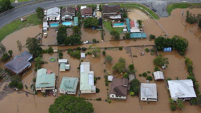 Flood waters at Macksville